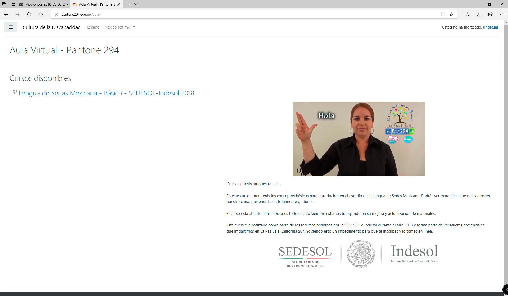 Cursos Lengua De Senas Mexicana En Linea Gratis Proyecto Pantone 294 Ac
